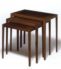 nesting tables (set of 3) by svenn eske kristensen