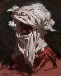 cabeza de árabe con turbante by manuel monedero
