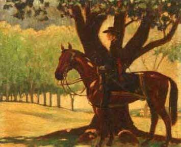 cavalry man on horseback by pierce rice