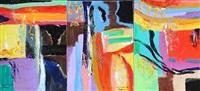 kærlighedens skrift (the writing of love) (triptych) by rolf gjedsted