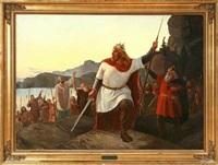 king valdemar sejr of denmark attacking estonia by niels anker lund