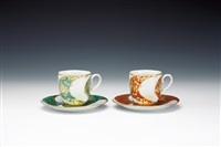 tea cups (+ saucers; pair) by minori yoshida