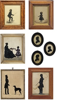 a silhouette of a young gentleman angler (+ 7 others; 8 works) by samuel metford