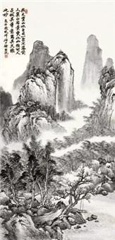 山水 立轴 设色纸本 by xu hanguang