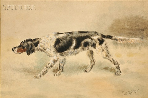 setter on a scent by edmund henry osthaus
