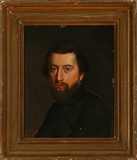 portrait of a man with a beard by fritz (georg urban f.) jürgensen