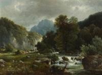 gebirgsbach bei bayrischzell by carl le feubure