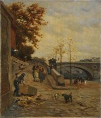 quai de l'hotel de ville, paris by william banks fortescue