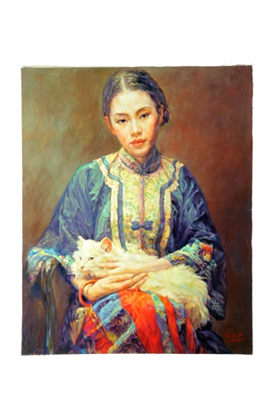 portrait of a woman by chen yifei