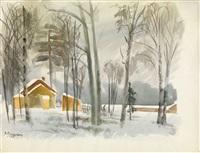 winter landscape by vladimir alekseevich milashevsky