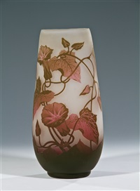 vase mit windengewächs by glashüttenwerke weisswasser
