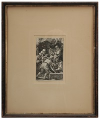 the entombment, from the small passion by albrecht dürer