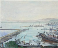 le port d'alger a matin by jean eugène bersier