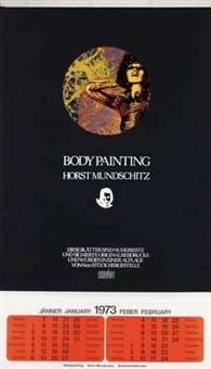body painting calendar (6 works) by horst mundschitz