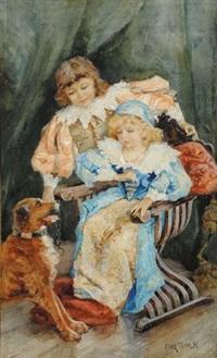 bambine con cane by elda borzino