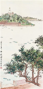 北海即景 (landscape) by liu kaiqu