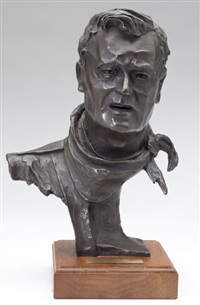 bust of john wayne by gallagher rule