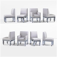 cityscape dining chairs (8 works) by paul evans