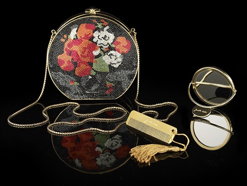 good selling official images shop for luxury Vintage Judith Leiber, New York, Floral Crystal Minaudiere ...