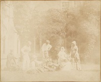 the fruit sellers, lacock abbey, england by william henry fox talbot