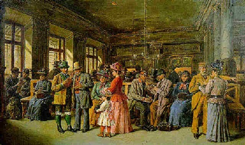 the station waiting room by gustav zafaurek