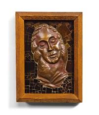 mosaik mit frauenkopf by leopold forstner