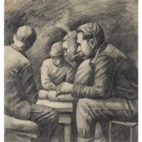 card players on the wpa by david fredenthal
