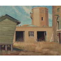 barn and silo by lloyd lozes goff