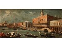 venedig-vedute mit blick auf den dogenpalast by francesco guardi