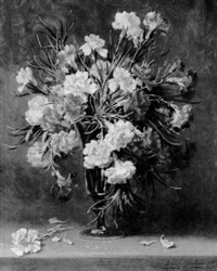 still life with carnations by emily selinger