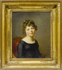 portrait d'amélie munier-romilly jeune fille by firmin massot