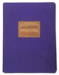 klinger-album. auswahl von dreißig hauptblättern von den original-platten auf japan gedruckt (portfolio of 30 w/title, colophon, foreword by felix becker, contents & text) by max klinger