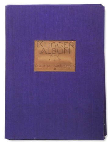 klinger album auswahl von dreißig hauptblättern von den original platten auf japan gedruckt portfolio of 30 wtitle colophon foreword by felix becker contents text by max klinger