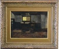 dutch cottage interior by jacob simon hendrik kever
