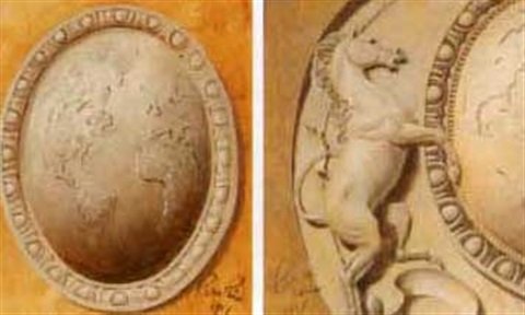 the globe the horse studies of the philip morris hq building medallion 2 works by pierce rice