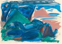 abstrahierte landschaft by k.h. hödicke