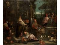 jesus speist mit seinen jüngern in emmaus by francesco bassano