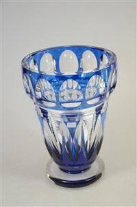 vase art déco by val saint-lambert