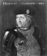 idealporträt des ercole i. d'este, herzog von ferrara (collab. w/workshop) by louis (luigi primo) cousin