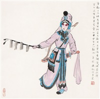 京剧人物图 by jiang caiping
