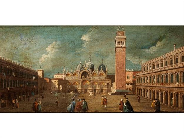 venedig vedute mit blick über den markusplatz auf san marco mit campanile by francesco guardi