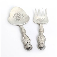 fish serving set (set of 2) by georg jensen