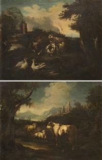 paesaggio con armenti (pair) by italian school-roman (17)