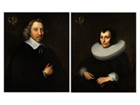 herrenportrait und damenportrait (pair) by anonymous-flemish (17)