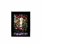 holy father reading (window panel) by max nauta