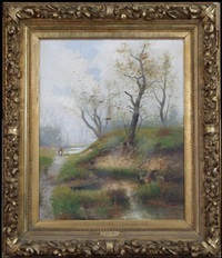 figures in landscape by l. vacano