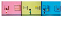 red, yellow, blue (triptych) by liu ye