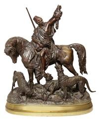 chasseur kabyle au retour de la chasse by arthur waagen