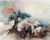 malerischer baum in mystischer landschaft by rudolf weber