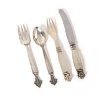 acanthus cutlery (set of 24) by johan rohde